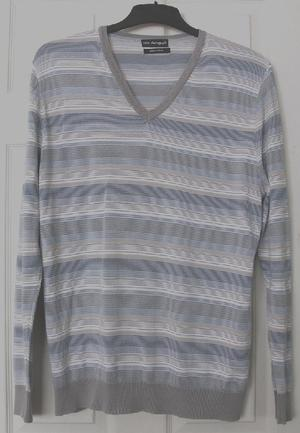 GORGEOUS MENS COTTON STRIPED JUMPER BY AUTOGRAPH - SZ L B18