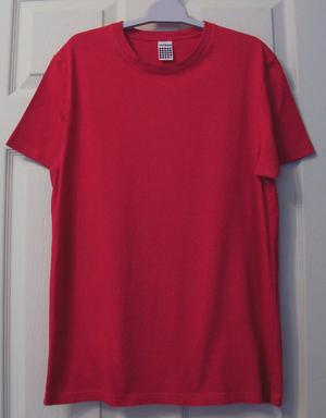 GORGEOUS MENS RED T SHIRT BY TOPMAN - SZ S B17