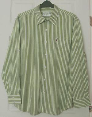 Gorgeous Mens Green Striped Shirt By Lee Cooper - sz XL B24