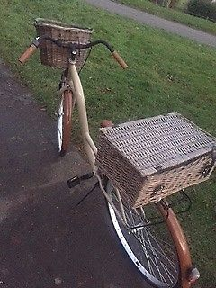 Gorgeous womens / ladies dutch bike, hamper basket and front wicker basket included