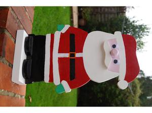 HAND MADE WOODEN SANTA CLAUS in Southampton