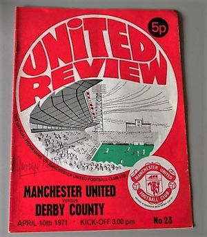 HAND SIGNED PROGRAMME BY GEORGE BEST