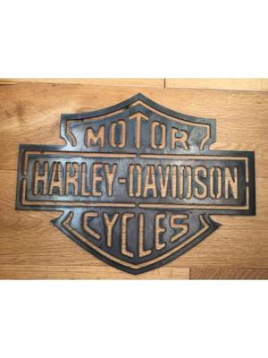 Harley Davidson 2mm thick steel cut out sign.