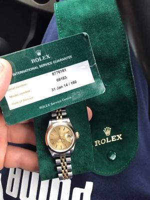 Ladies Rolex Datejust 18k  with Service Papers