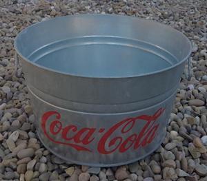 Large Coca Cola Galvenised Aluminium Ice Bucket/Ice Bath