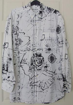 MENS BLACK & WHITE SHIRT BY FRENCH CONNECTION SZ M B8