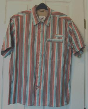 MENS MULTICOLURED STRIPED SHIRT BY FAT FACE - SZ L B10