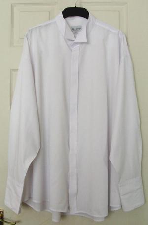 MENS WHITE DRESS SHIRT BY JOZKA RUDOLF- SZ 20 B19