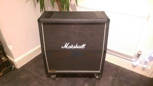 Marshall JCMA 4x12 guitar cab with cover and metal panel