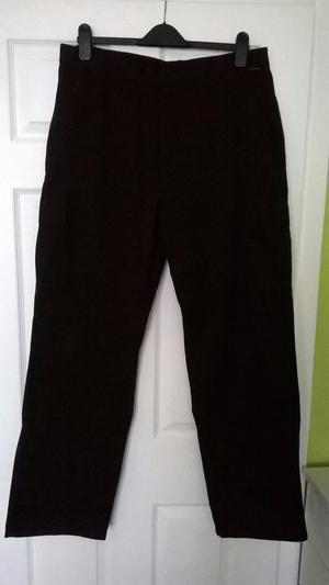Mens Black Portwest Cargo Trousers – NEW