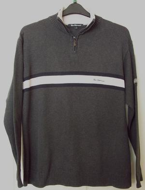 Men's Charcoal Grey Jumper By Ben Sherman - Sz 2 (M)