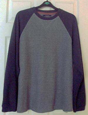 Mens Grey/Navy Top By Leisurewear - Sz L B8
