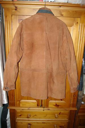 Mens Suede 3/4 length car coat