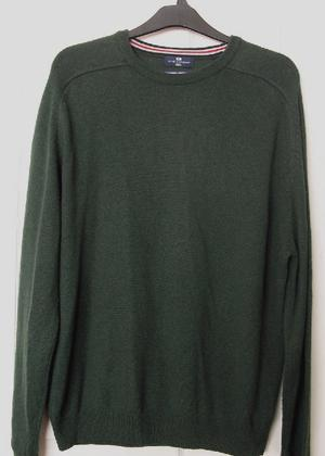 Mens dark green lambswool jumper by Blue Harbour - sz xl B22