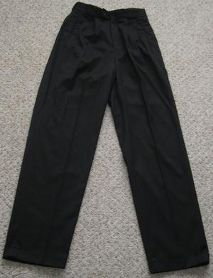 Mens or Boys Black Trousers, Waist 28R.