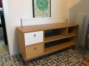 Mid century modern style tv cabinet