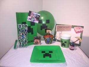 Minecraft Kids Birthday Party Bags, fillers & Soft Toys