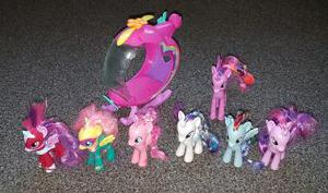 My little pony figures bundle with helicopter