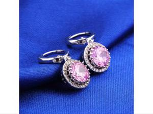 PINK MINIATURE GOLD PLATED EARRINGS.