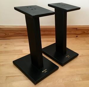 Pair Of Black Satin By Goldring Speaker Stands Posot Class