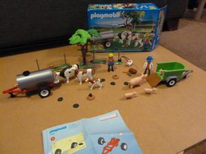 Playmobil  Cow Pasture w/ tank trailer plus Playmobil