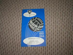 RARE  LGE CUP FINALLEICESTER V STOKE