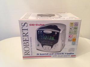 Roberts Cd Cube 3 band clock radio