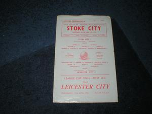 STOKE V LEICESTER LGE CUP FINAL