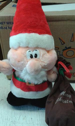 Stood up Father Christmas soft toy