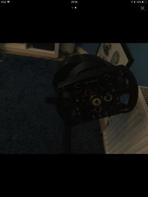 T300 steering wheel with Ferrari f1 wheel add on
