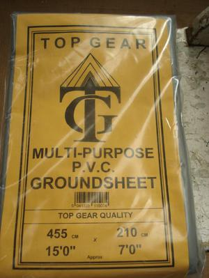 Top Gear (T.G.) P.V.C. Multi Purpose Ground Sheet