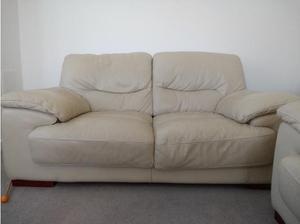 Two X 2 seater sofas and storage footstool in Aylesbury