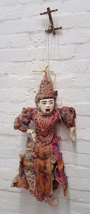Vintage Oriental Marionette Puppet (DELIVERY AVAILABLE)