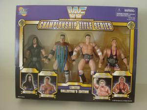 WWF Box Set Championship Title Series - 4 Figures