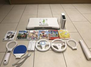 Wii Console Wii Fit Board Mario and Many Games and Extras