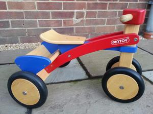 Wooden Trike by Pin Toy LIKE NEW BOXED!