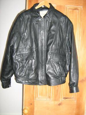black leather man's jacket. XL size