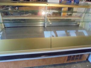 large display fridge for kebab shop or cafe shop two, on wheels can deliver it