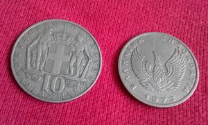 2 Greek Coins