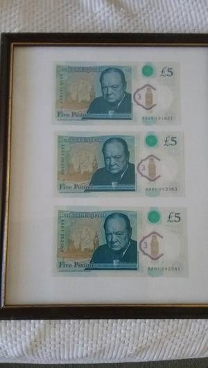 £5 new notes.