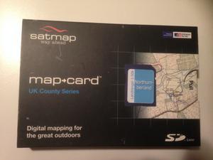 BRAND NEW UNOPENED Satmap Map Card  Northumberland 1:50k
