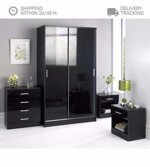 Brand New Luxury Carleton 4 Piece High Gloss Bedroom