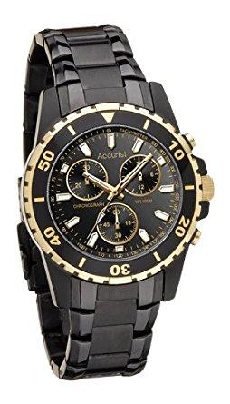 Chronograph Black Stainless Steel Bracelet Watch