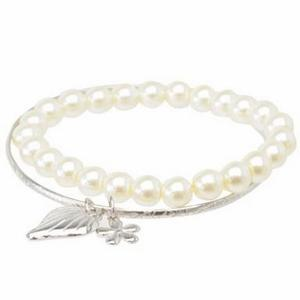 Faux pearl bracelet and bangle set. - JTY194