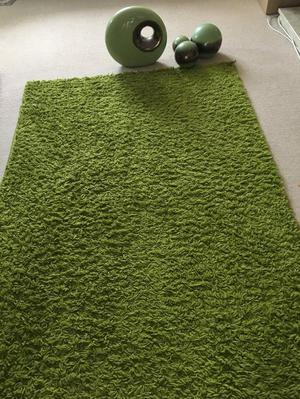Green Rug and Ornaments
