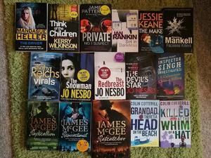 Job Lot of Crime Fiction Various Authors inc Jo Nesbo and James Mc Gee
