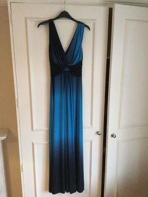 Long blue Phase Eight evening dress size 10