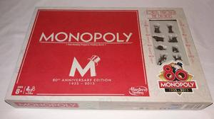 MONOPOLY 80TH ANNIVERSARY EDITION  Complete w Instructions Board Game