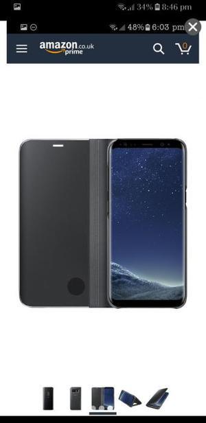 Samsung galaxy s8 black clear view case