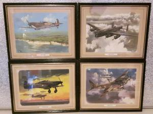 Set of four World War Two British Warplanes.